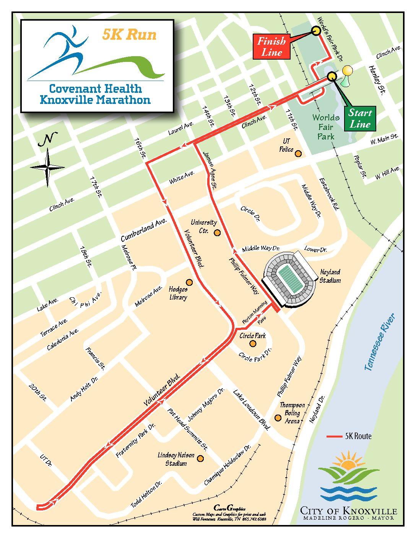 Course Maps | Covenant Health Knoxville Marathon